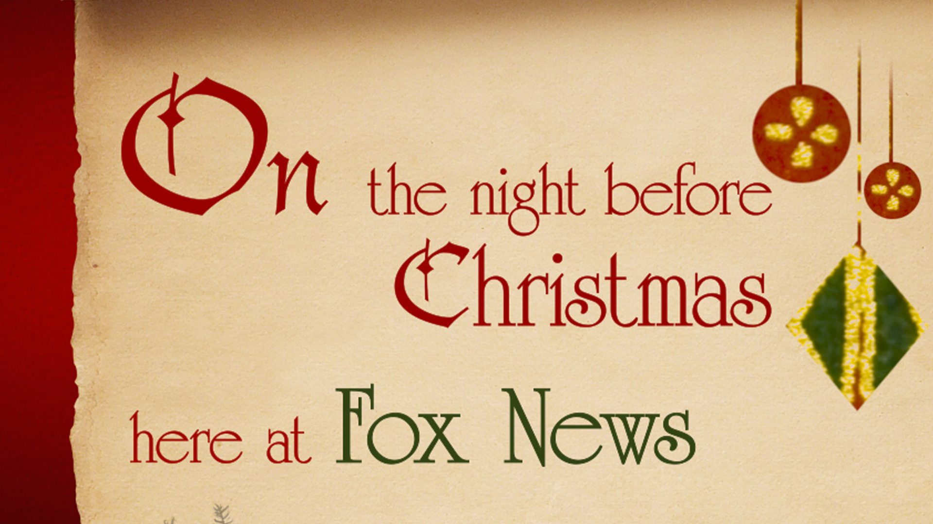 National Television Commercial - Fox & Friends Holiday Series. Fox News Channel 2010.