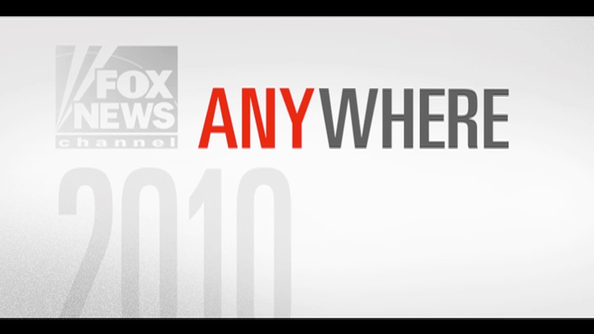National Television Commercial - We're Everywhere Political Campaign. Fox News Channel 2010.