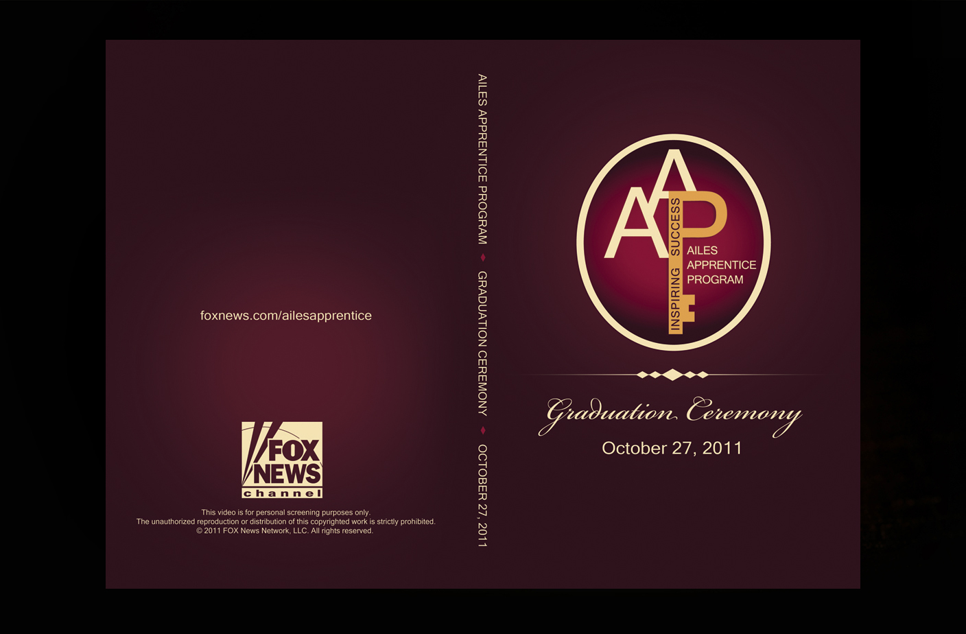 DVD Wrap Design - Ailes Apprentice Program. Fox News Channel 2011.