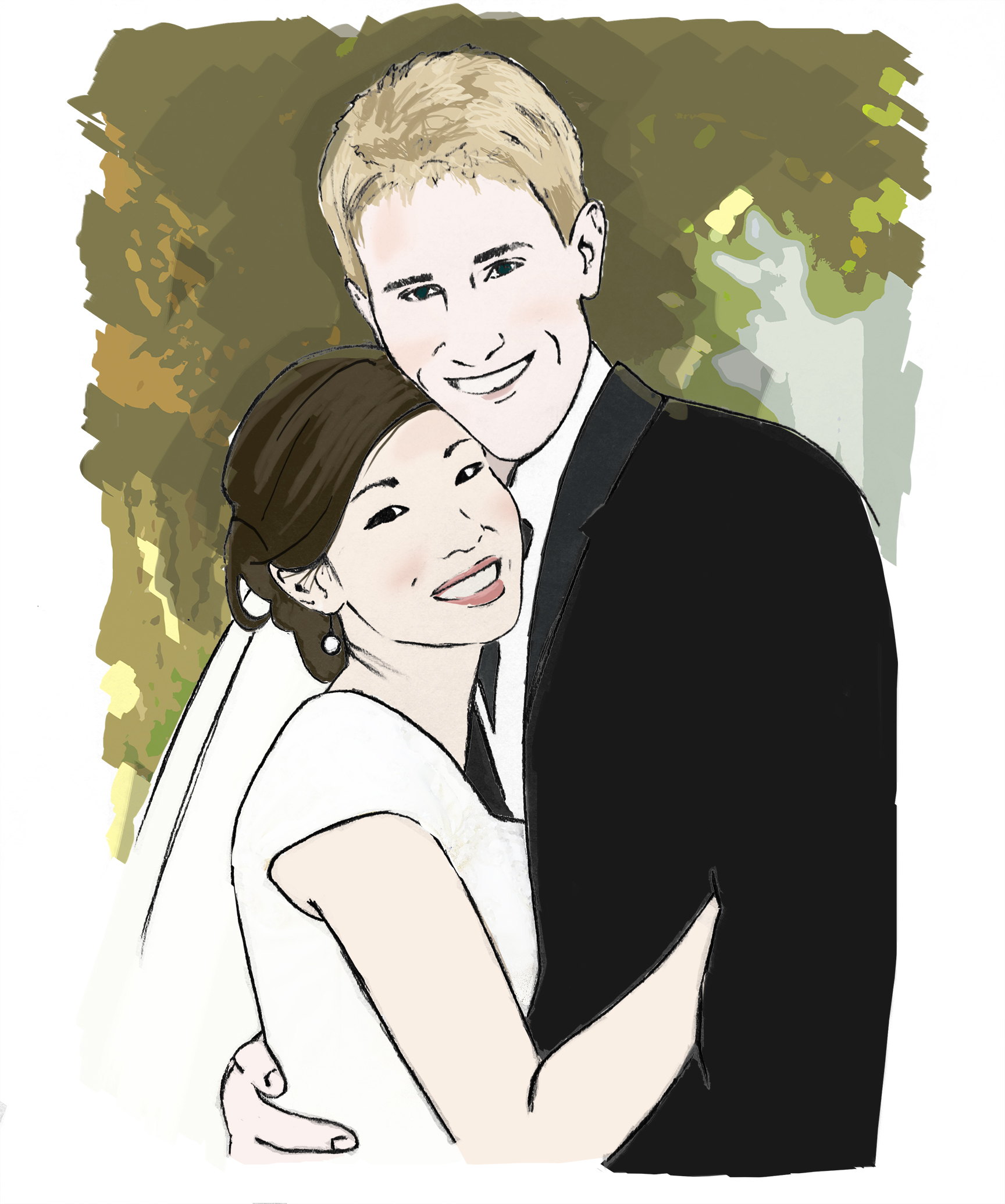 Wedding Portrait. Esty Client 2013.