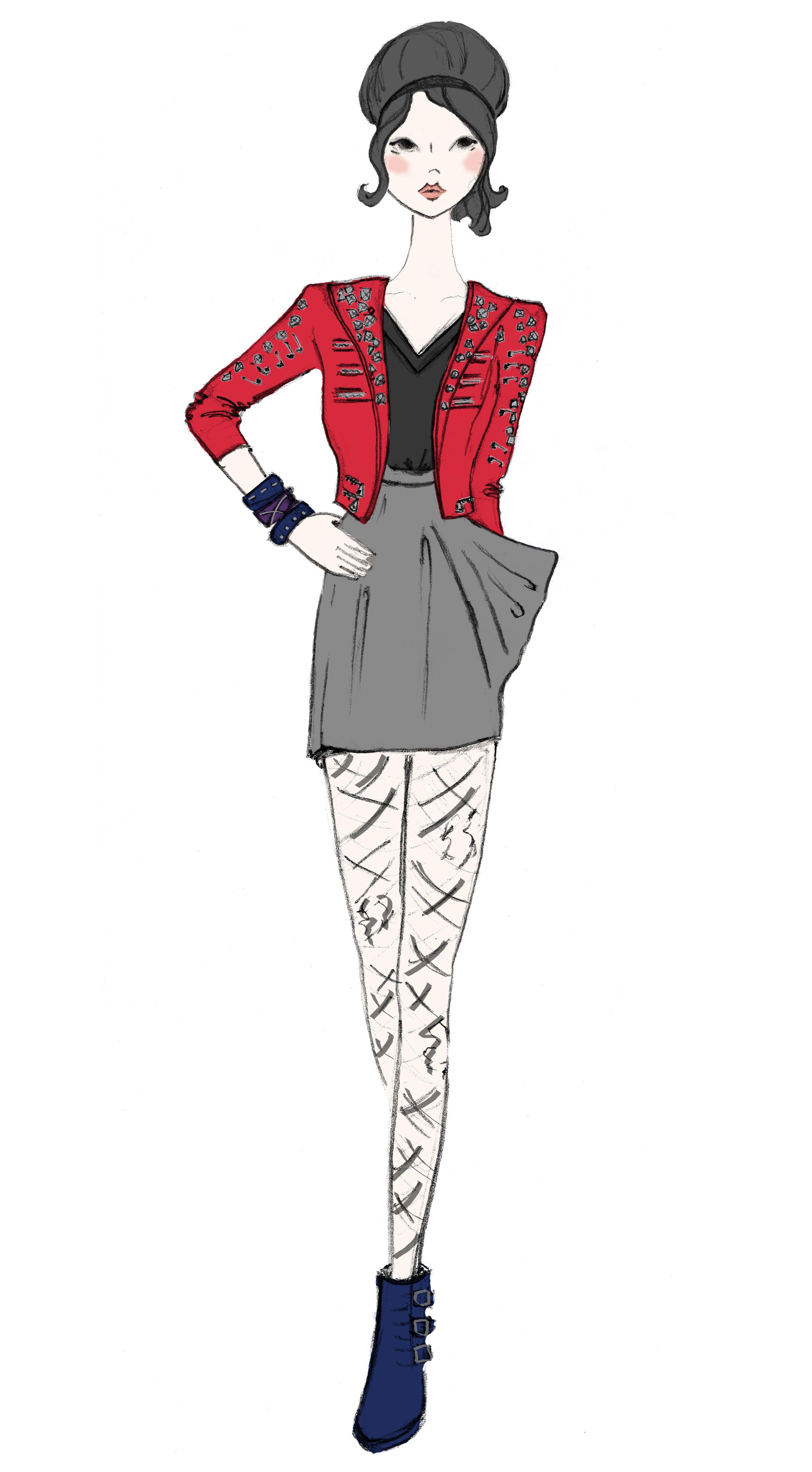 Fashion Illustration. Esty Client 2012.