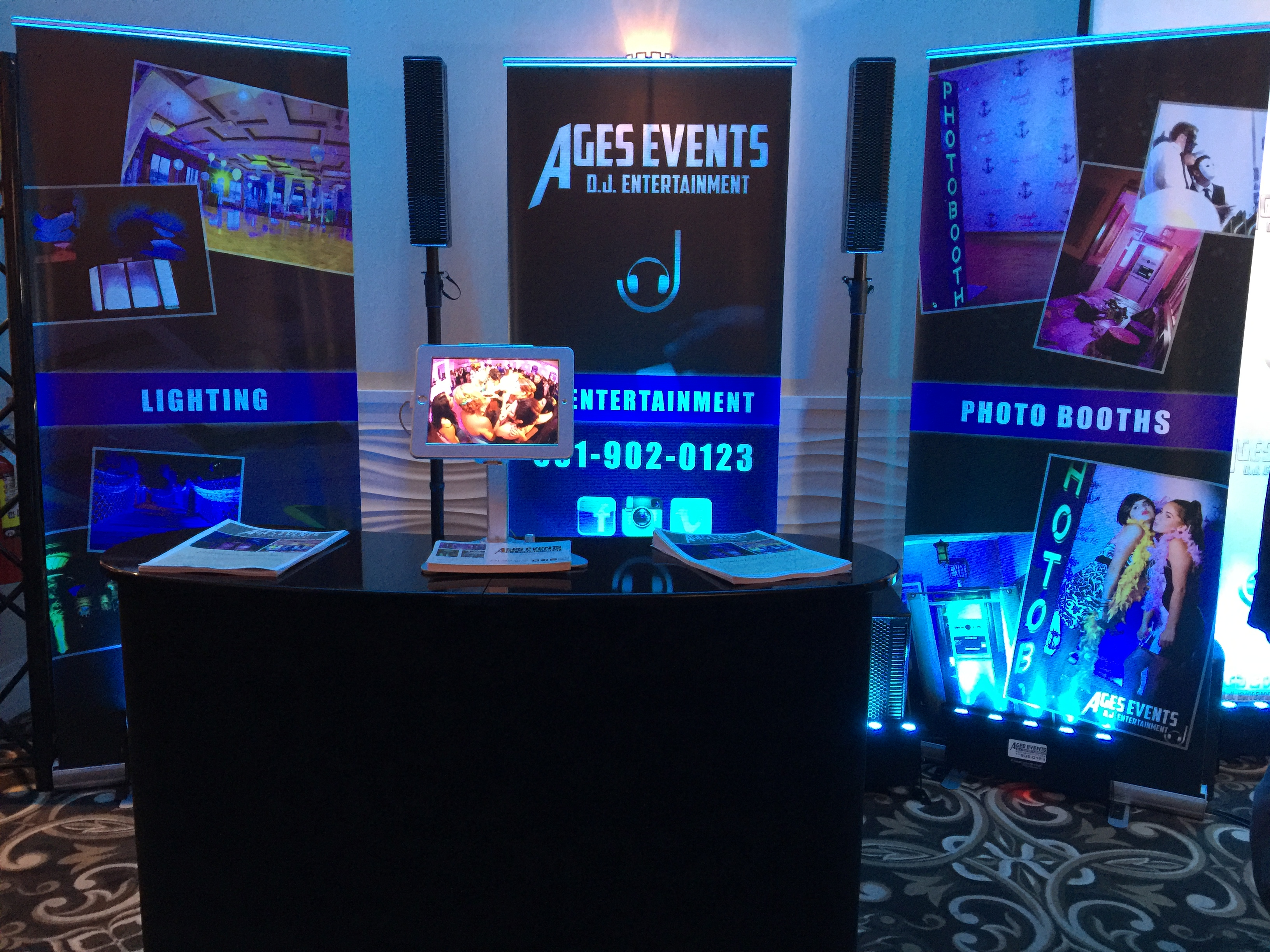 Retractable Banner Designs - AGES Events D.J Entertainment 2015.