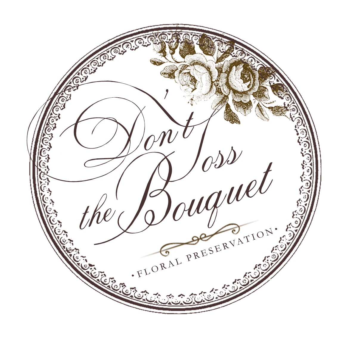 Don't Toss the Bouquet Floral Preservation Logo